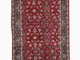 Red Black and Cream area Rug oriental Hand Knotted Wool Red Black Cream area Rug