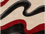 Red Black and Cream area Rug Stian Cream Red Black area Rug