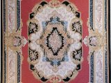 Red Black and Gold area Rugs Aubusson Hand Woven Wool Red Gold Black area Rug