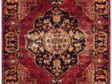 Red Black and Gold area Rugs Safavieh Vintage Hamadan Vth 219 area Rugs