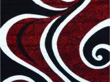 Red Black White area Rug Amazon 0327 Red Black Swirl White 10×13 9 2×12 6