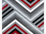 Red Black White area Rug Summit Collection Abstract Gray Red Black and White area Rug Walmart