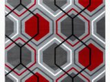 Red Black White area Rug Summit Collection Geometric Honey B Red Grey Red area Rug Walmart