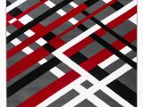 Red Black White area Rug Summit Collection Modern Abstract Gray Black Red and White area Rug Walmart