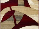 Red Brown and Tan area Rugs Mirabal Abstract Red Tan area Rug