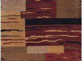 Red Brown and Tan area Rugs Rizzy Home Mojave Collection Wool area Rug 2 X 3 Multi Rust Brown Camel Tan Red