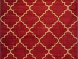 Red Brown Black area Rugs Conur Collection Trellis Contemporary Modern Design area Rug