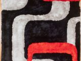 Red Grey and Black area Rugs Colibri 3d Black Red Grey area Rug