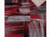 Red Grey and Black area Rugs Red Grey Silver Black Abstract Contemporary Modern Design