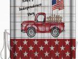 Red Truck Bathroom Rug Amazon American Flag Red Car Truck Board Shower Curtain