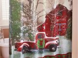 Red Truck Bathroom Rug Home for the Holidays Bathroom Collection