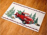 Red Truck Bathroom Rug Vintage Country Red Pick Up Truck Rug Kitchen and Home Entryway Decoration