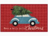 Red Truck Christmas Bath Rug Holiday Truck 18 X 210 Accent Rug In Red Bed Bath and