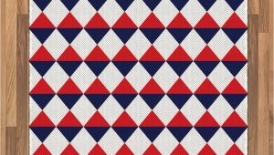 Red White and Blue Americana area Rugs Amazon Ambesonne Americana area Rug Half Triangles