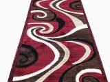 Red White and Blue Americana area Rugs Americana Modern Long Runner Swirl area Rug Red Carpet King Design 144 32 Inch X10 Feet