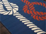 Red White and Blue Americana area Rugs Sea Knotty Navy Blue Red and White area Rug