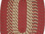 Red White and Blue Braided Rugs Constitution Rugs Plymouth 5 X 8 Braided Rug In Barn Red