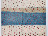 Red White Blue Rug Ivory Red and Turquoise Blue Moroccan Berber Beni Ourain