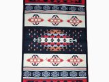 Red White Blue Rug Rustic Rug Carpet Blue Yellow Red and White Colour Genuine
