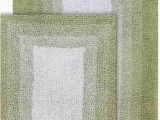 "Reversible Bath Rug Sets Chesapeake Merchandising Whitney Reversible 2 Piece Bath Rug Set 21"" X 34"" & 17"" X 24"" Nile Green"