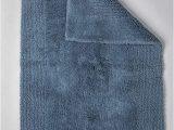 Reversible Contour Bath Rug Grund Puro Series organic Cotton Reversible Bath Rug 17 Inch by 24 Inch Sea Blue