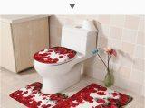 Rose Colored Bath Rugs Xyzls 3pcs Set Brand Red Rose Flannel Bathroom Mats Anti