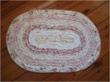 Rose Colored Bathroom Rugs Ruffle Vintage Pink Rose Cotton Quilted Bath Rug Mat B Ebay