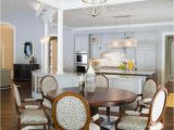 Round area Rug for Under Kitchen Table Gray & White Dining Room with Floral Accents Eye Catching