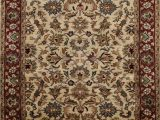 Round area Rug with Fringe Floral Agra Beige oriental area Rug Wool Hand Tufted Dining Room Carpet 5×8 Ft