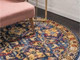 Round area Rugs 5 X 5 Blue 5 X 5 Geor Own Round Rug area Rugs