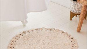 Round Bath Rugs Target Round Crochet Trim Bath Mat