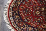 Round Blue oriental Rugs Rugsville Red Persian Tabriz Round Blue Wool oriental Rug 90 X 90