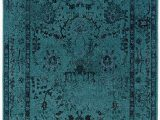 Round Blue oriental Rugs Teal Blue Overdyed Style area Rug with Ikea oriental