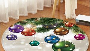 Round Christmas Bath Rugs Christmas theme Decorative Round Floor Rug