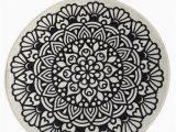 """Round Gray Bath Rug Black Mandala Round Home Decor Rug soft Bath Mat Eco Friendly Gift for Her 2 Different Diameters 39"""" and 55"""""""