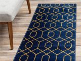 Royal Blue and Gold area Rug Navy Blue Gold 2 X 10 Marilyn Monroe