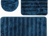 Royal Blue Bathroom Rug Set Baltic Linen Bellados Rug Set 3 Piece Cobalt