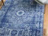 Royal Blue Fluffy Rug 4 X 6 Heritage Rug