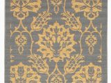 Rubber Backed area Rugs 4×6 Rubber Backed Non Skid Non Slip Gold & Gray Color Floral Design area Rug