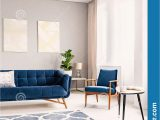 Rug for Blue Couch Elegant Living Room Interior with A Dark Blue Couch and A