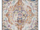 Rug orange and Blue Bungalow Rose Vedika oriental Multicolor area Rug & Reviews