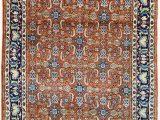 """Rug orange and Blue Vintage Persian Rug Wool Rug orange and Blue Rug 3 X 4 5"""" Rug"""