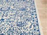 Rug White and Blue Adorn orthodox Transitional Rug