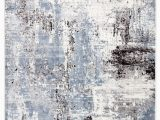 Rug White and Blue Altair Abstract White & Blue area Rug – Burke Decor