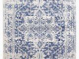 Rug White and Blue Evoke 253 White Navy Rug