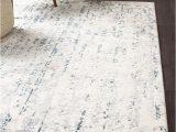 Rug White and Blue Farah Distressed Contemporary Rug White Blue Grey