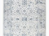 Rug White and Blue Hampton Collection Traditional White Blue area Rug Walmart