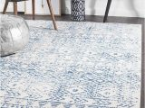 Rug White and Blue Oasis ismail White Blue Rustic Rug