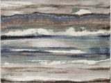Rugs Brown and Blue Jayesh Abstract Blue Brown area Rug