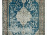 Rugs with Blue In them 8×11 Blue Turkish Vintage area Rug 11928 Vintage area